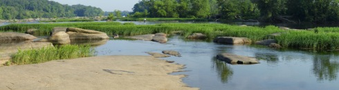 panoramic photograph of the James River