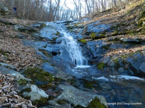 photograph of a cascade along Jones Run in Shenandoah National Park