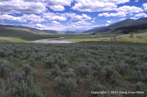 HDR photograph of the Lamar Valley in Yellowstone National Park