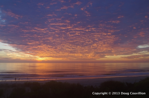 photograph of sunrise over the beach at Corolla, North Carolina