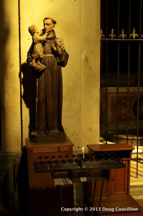 photograph of a shrine inside Santa Maria della Consolazione in Rome, Italy